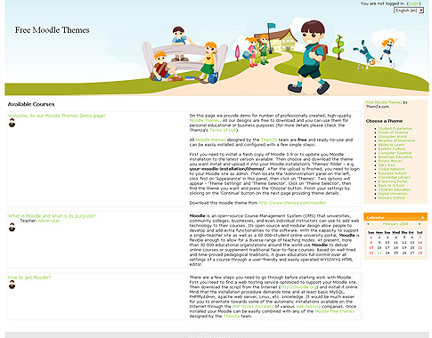 Moodle Themes - ThemZa Free Templates