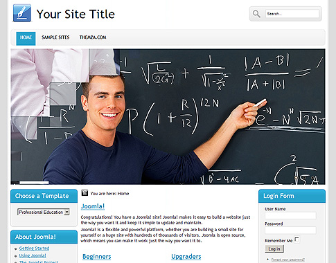Professional Educationl - Free Joomla 1.6 Template from ThemZa