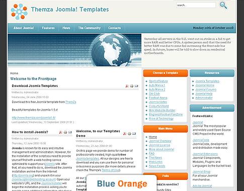free joomla templates - free joomla 1 5 x templates rise of technology by themza