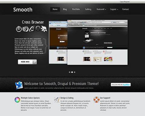 Smooth drupal 6 theme for Drupal 7 view template
