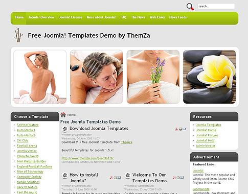 Spa centrum gratis joomla 1 5 ontwerp op basis van thema door themza - Spa ontwerp ...