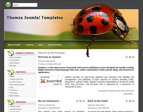 Free Templates for Joomla 2.5 | ThemZa.com