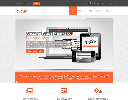 Touchm responsive drupal template for Drupal 7 view template