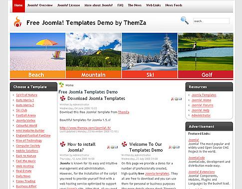 trip navigator' - free joomla 1.5 templatethemza, Powerpoint templates
