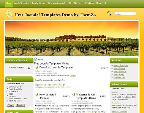 Download free joomla 1. 5 templates.