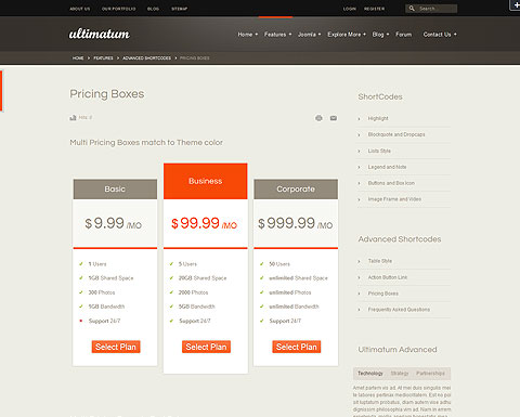 ultimatum premium joomla 2 5 template