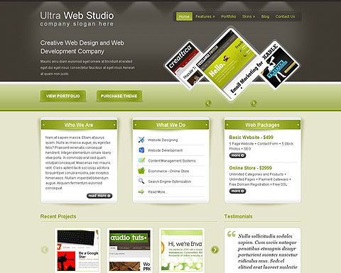 Ultra Web Studio WP Template