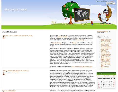 Free Moodle Themen: Vorschule by ThemZa