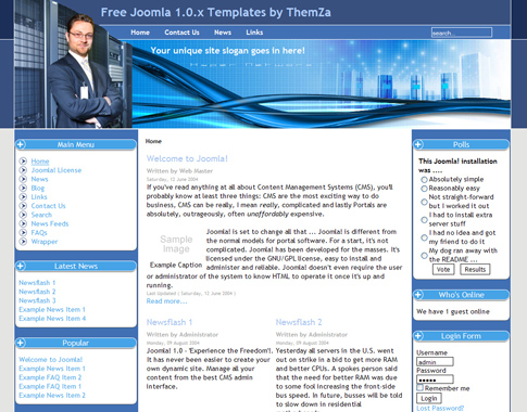 Web hosting company for Joomla templates with sample data