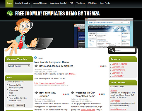 web solutions - free joomla template from themza, Powerpoint templates