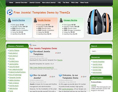 Webhosting - kostenlose Joomla 1.5 Designs von ThemZa