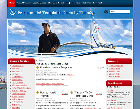 Upcoming Events Template Yacht sailing template for