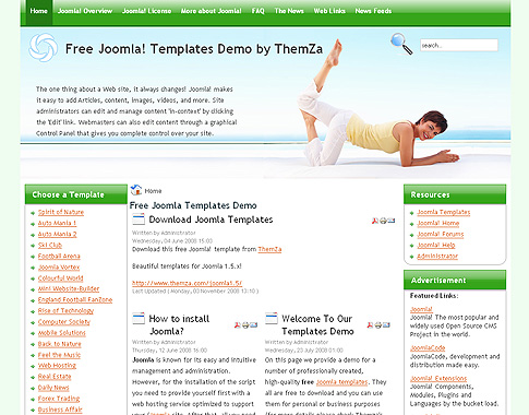 Yoga Style' - Free Joomla 1.5 Template By Themza