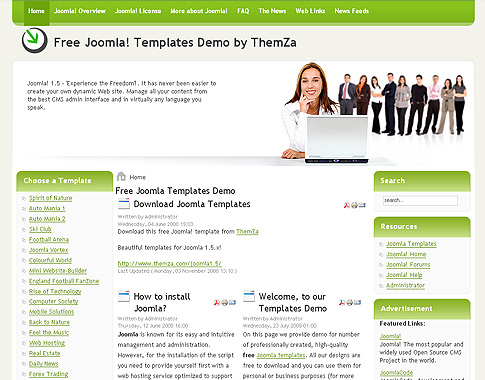 free joomla 1.5.x templates: business affairthemza, Powerpoint templates