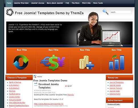 Forex Comercio\' – diseño gratuito para sitios basados en Joomla 1.5 ...