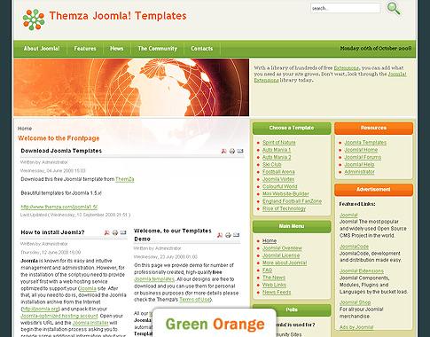 Free Joomla 1.5 Vorlagen: Neue Technologien by ThemZa