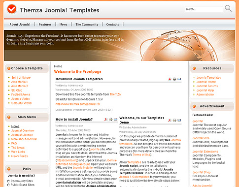 how to upload a template in joomla - colourful world free template for joomla 2 5