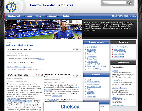 Football fan joomla template for How to upload a template in joomla