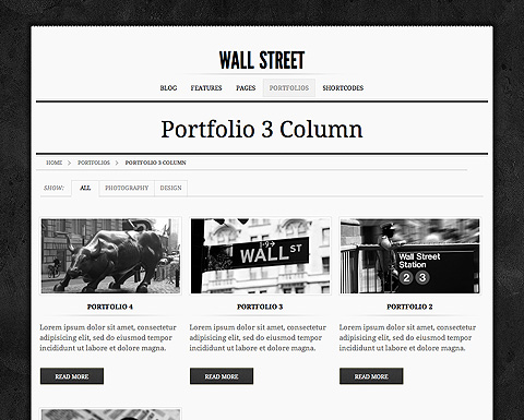 wall street wordpress template. Black Bedroom Furniture Sets. Home Design Ideas