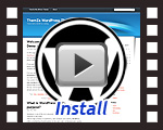install a WordPress template