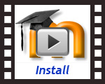 install a Moodle template